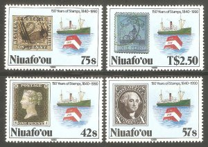 TONGA NIUAFO'OU Sc# 125 - 128 MNH FVF Set4 Tin Can Mail Ship