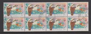 Australia Sc#1194a Used Pane of 10 - has been folded