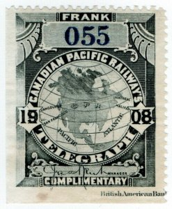 (I.B) Canada Telegraphs : Canadian Pacific (1908)