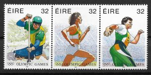 1996 Ireland 999a Summer/Paralympic Games MNH strip of 3