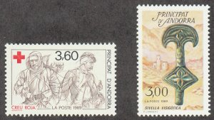 Andorra-French - 1989 - SC 374-75 - VLH