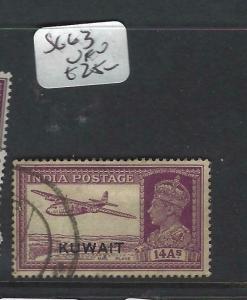 KUWAIT   (P2804B) ON  INDIA KGVI   14A  SG 63  MOG