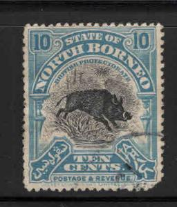 North Borneo Scott 144 Used perf 14 1922 rounded corner