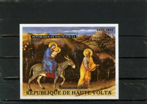 UPPER VOLTA 1972 Sc#C134 CHRISTMAS PAINTINGS S/S MNH