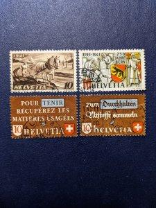 Switzerland 279-282 VF, CV $2.75