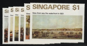Singapore Postage Stamps Catalog No 144-49, Mint NH