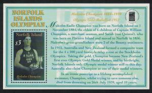 Norfolk 'Olymphilex 2000' International Stamp Exhibition Sydney MS SG#MS737