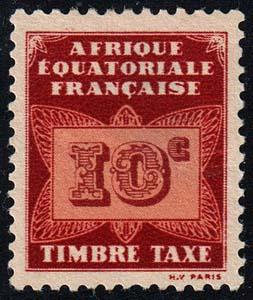 French Equatorial Africa - Scott J2 - Mint-Hinged - Thin - Pencil Marks on Back