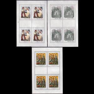 SLOVAKIA 2001 - Scott# 389-91 Sheets-Art NH no gum