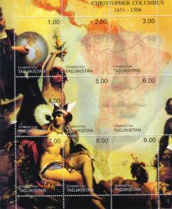 Tajikistan 2000 CHRISTOPHER COLUMBUS 1451-1506 Sheetlet perforated (9) MNH