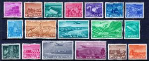 INDIA — SCOTT 254-271 (SG 354-371) — 1955 5 YEAR PLAN SET — MH — SCV $87.00