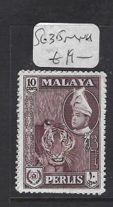 MALAYA PERLIS  (P0408B)  SULTAN  SG 35  MNH