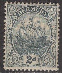 Bermuda; 1913: Sc. # 43: */MH Single Stamp