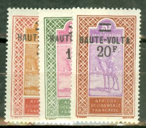 M: Burkina Faso  29-42 mint, 30 no gum CV $57.60; scan shows only a few