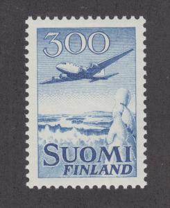 Finland Sc C4 MNH. 1958 300mk DC-6, redrawn design VF