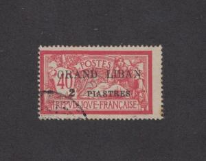 Lebanon 10 - French Mandate. Overprint. Used.    #02 LEB10a