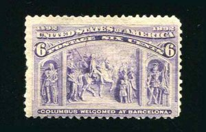 235 6¢ Columbus Welcomed at Barcelona MH