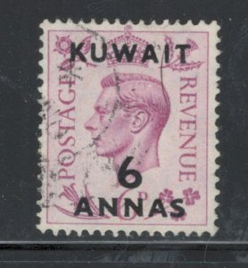Kuwait 1948 Surcharge 6a on 6p Scott # 78 Used