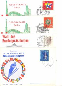 Germany 4 commemorative cards  VF