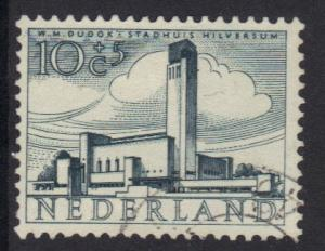 Netherlands 1955 used Cultural welfare buildings 10+5 ct  #