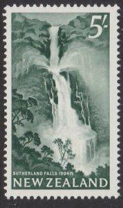 NEW ZEALAND 1960 5/- Waterfall fine MNH.....................................M261