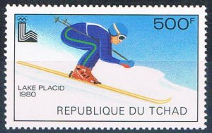 Chad 386 MNH Skier 1979 (HV0270)