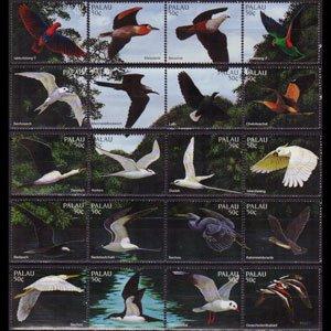 PALAU 1996 - Scott# 402a-t Lagoon Birds Set of 20 NH