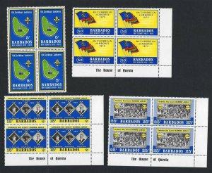1972 Barbados Boy Scout 4th Caribbean Jamboree blocks