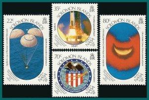 Solomon Islands 1989 Moon Landing, MNH #643-646,SG652-SG655