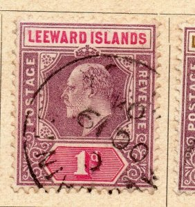 Leeward Islands 1902 Early Issue Fine Used 1d. NW-11903