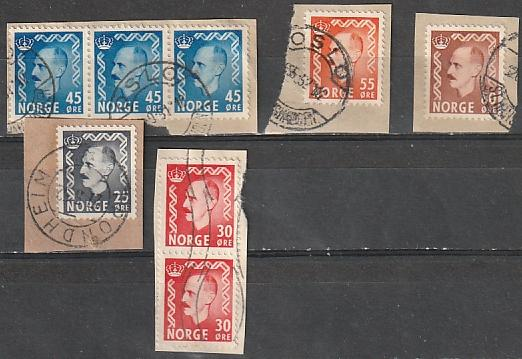 #313,315,317,322,323 Norway Used on paper