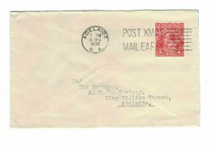 APH1491) Australia 1930 2d Red KGV Die II Small Cover