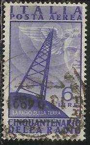 ITALY REPUBLIC ITALIA REPUBBLICA 1947 POSTA AEREA AIR MAIL CINQUANTENARIO INV...