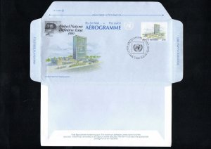 United Nations, New York, 1989, Aerogramme, Air Letter, special cancelation
