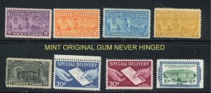 E15 and higher Misc Special Delivery etc 8 total  MINT OGNH