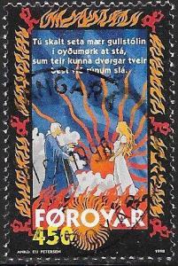 Faroe Islands 332 Used - Sigurd Poem Brynhilds Ballad - King Buole & Brynhild