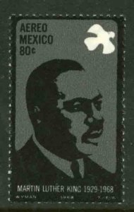 MEXICO C339, In Memory of Martin Luther King. MINT, NH. F-VF.