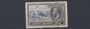 CAYMAN ISLANDS  1935 SG 105 2/- ULTRA & BLACK  MH C £50 TONED  OLD HINGE REMAINS