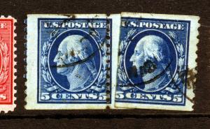 Scott #447 Washington USED Coil Paste-Up Pair! (Stock #447-5)