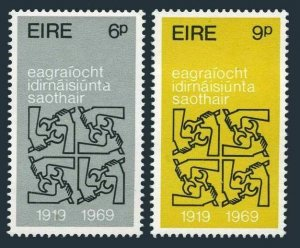 Ireland 272-273,MNH.Michel 232-233. ILO 50th Ann.1969