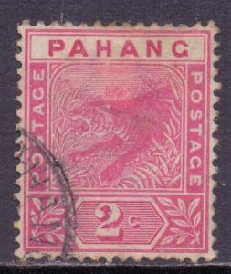 Malaya Pahang Scott 12 - SG12, 1891 Tiger 2c used