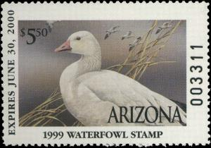 ARIZONA #13 1999 STATE DUCK SNOW GOOSE by Sherrie Russell Meline