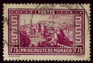 Monaco Scott #124 Used VF hr SCV$13...French Colonies are hot!