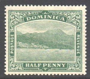 Dominica Scott 50 - SG47, 1908 Roseau 1/2d MH*