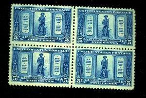 619 MINT Block FVF OG 3 Stamps NH 1 LH Cat$92