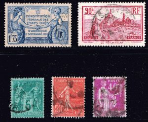 FRANCE STAMP USED Stamps collection lot