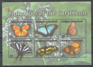 PK277 ANTIGUA & BARBUDA FAUNA BUTTERFLIES INSECTS CARIBBEAN KB MNH STAMPS