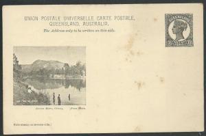 QUEENSLAND QV 1½d pictorial postcard BARRON RIVER, CAIRNS..................59981