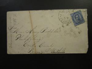 Italy SC# 48 on Cover on 1890 Cover to USA - Z5742