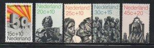 Netherlands Sc B470-74 1971 Adult  Education stamp set used